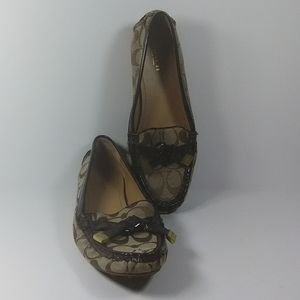 COACH pre-owned women's FRIDA loafers